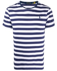 Polo Ralph Lauren Striped Embroidered Logo T Shirt
