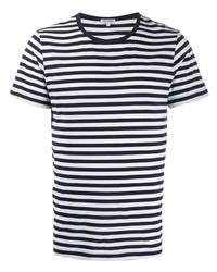 Ron Dorff Striped Print T Shirt