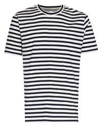 Eleventy Striped Short Sleeve T Shirt