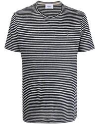 Dondup Striped Short Sleeved T Shirt