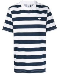 adidas Striped Trefoil T Shirt