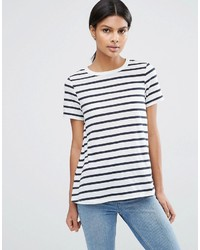 Asos Swing T Shirt In Stripe