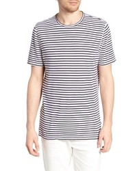 AG Theo Striped Cotton Linen T Shirt