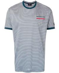 Paul & Shark Tricolour Detail Striped T Shirt