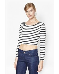 French Connection Later Stripe Crop Top