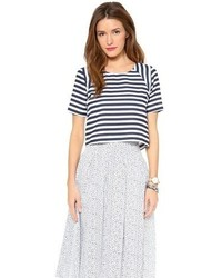 Joa Striped Short Sleeve Top