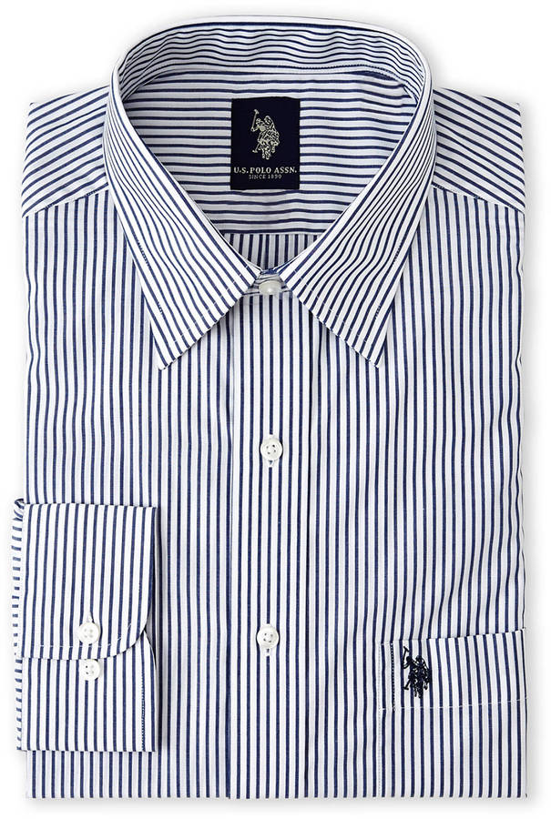 White navy stripe dress shirt where to buy how to wear Buy white dress shirt