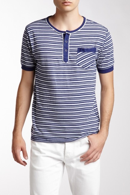 English laundry stripe henley tee where to buy how to wear for Kim kardashian henley shirt