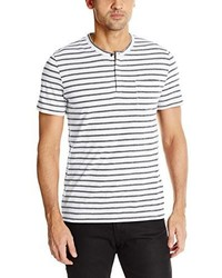 Kenneth Cole New York Stripe Henley With Pocket Shirt