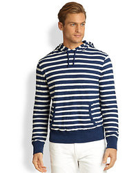Polo Ralph Lauren Double Layered Striped Slub Jersey Hoodie