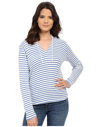 Meridien stripe loose knit hoodie medium 1252226