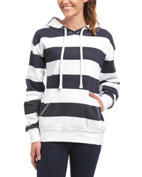 Navy white stripe hoodie plus too medium 1252223