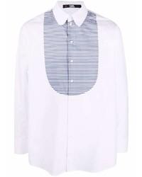 Karl Lagerfeld Striped Bib Shirt