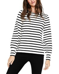 Boden Blouson Sleeve Breton Stripe Top