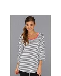 Columbia Reel Beauty 34 Sleeve Shirt Long Sleeve Pullover Whitecollegiate Navy Stripe
