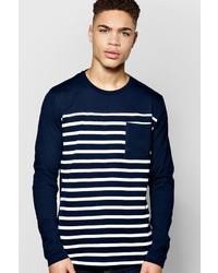 Boohoo Long Sleeve Stripe Tshirt