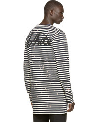 36da157d3bd5 ... Off-White Navy White Striped T Shirt ...