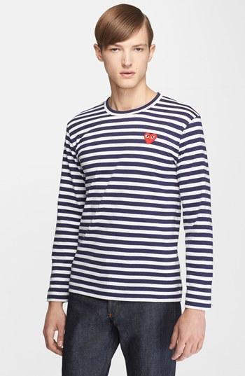 ... Comme des Garcons Play Stripe T Shirt ...