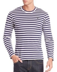Comme des Garcons Play Striped Long Sleeve T Shirt