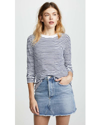 Stripe long sleeve tee medium 6990269