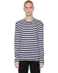 Striped cotton jersey t shirt medium 1292713