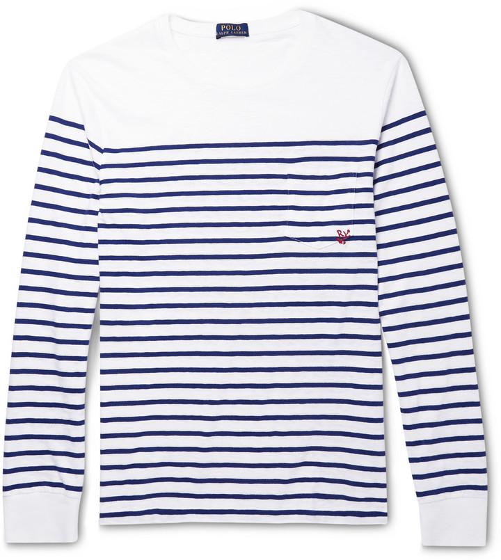 ... Long Sleeve T-Shirts Polo Ralph Lauren Striped Cotton Jersey T Shirt ... 673d986a0ec5