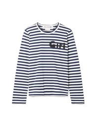 Comme Des Garçons Girl Striped Cotton Jersey Top