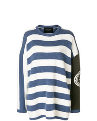 Mr & Mrs Italy Striped Boxy Jumper