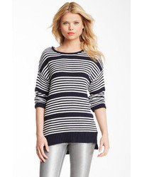 Romeo & Juliet Couture Striped Oversized Sweater