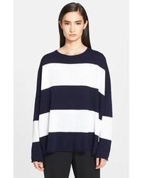 eskandar Wide Stripe Cashmere Sweater