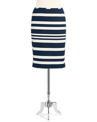Tahari Arthur S Levine Striped Pencil Skirt