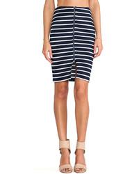 Joa Striped Pencil Skirt