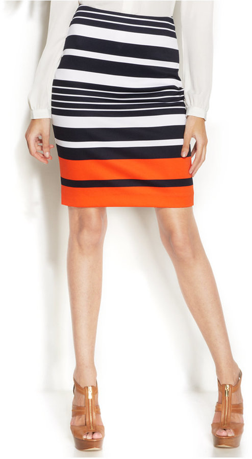 1bb2ae765e MICHAEL Michael Kors Michl Michl Kors Striped Pencil Skirt, $84 ...