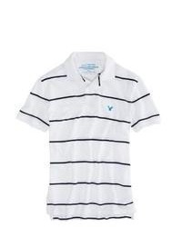American Eagle Outfitters Factory Striped Polo Shirt L