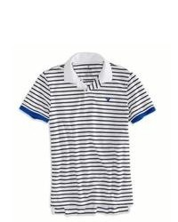 American Eagle Outfitters Striped Polo Shirt M Tall