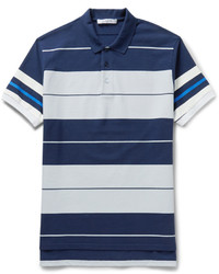 Givenchy Columbian Fit Striped Cotton Piqu Polo Shirt