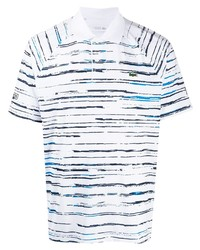 Lacoste Logo Embroidered Striped Polo Top