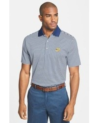 Peter Millar Notre Dame Fighting Irish Regular Fit Stripe Cotton Lisle Polo