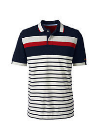 Classic Short Sleeve Pieced Stripe Mesh Polo Shirt Rich Forestxl