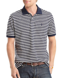 Izod Short Sleeve Striped Piqu Polo