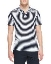Theory Striped Linen Polo