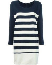 Twin-Set Striped Shift Dress