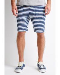 White and Navy Horizontal Striped Shorts for Men | Men's Fashion