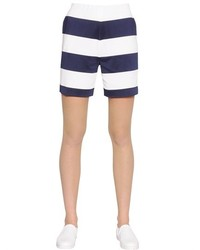 Emporio Armani Striped Viscose Jersey Shorts