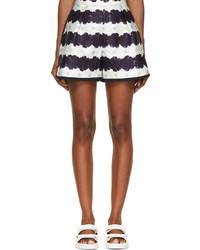 Navy white floral stripe addison shorts medium 227693