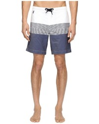 Z Zegna Striped Boardshorts Swimwear