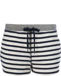 Alexander Wang T By Striped Shorts