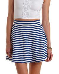 Charlotte Russe Striped Skater Skirt