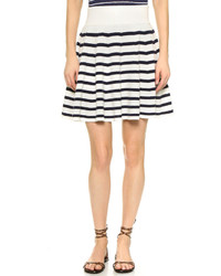 Ganni tamara stripe cashmere skirt medium 299142