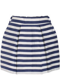High Waist Striped Flare Skirt